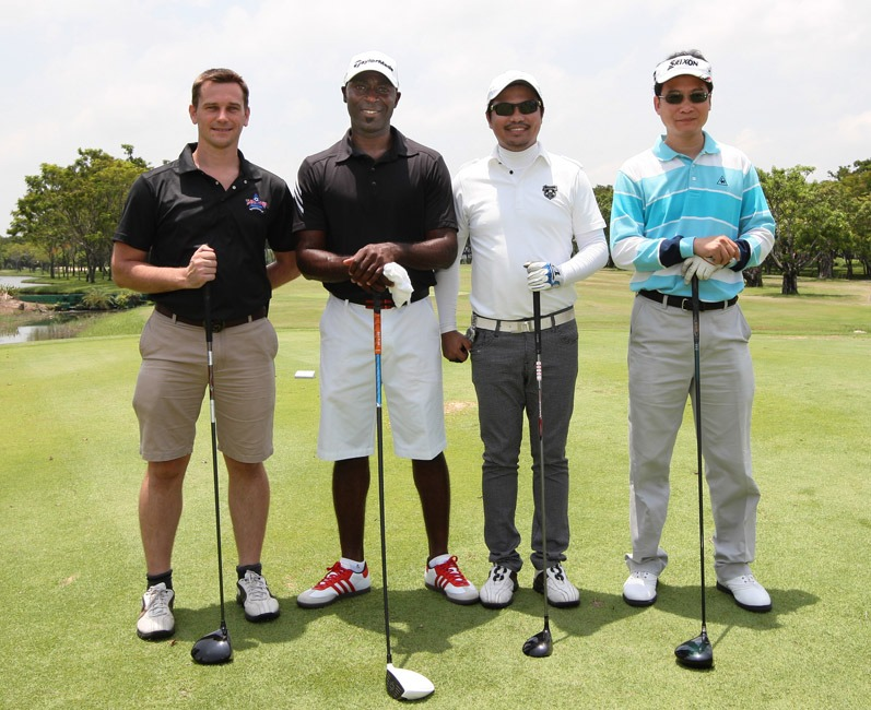Andy Cole and Standard and Chartered Executives