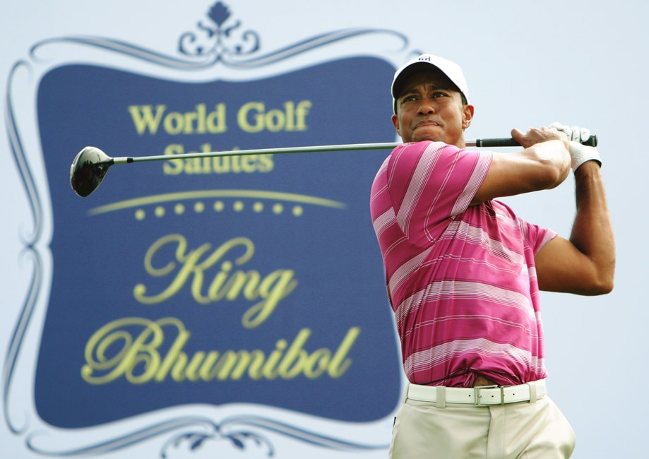 Tiger Woods Tees Off At The Skins Game In Honour Of The Thai King At Amata Springs