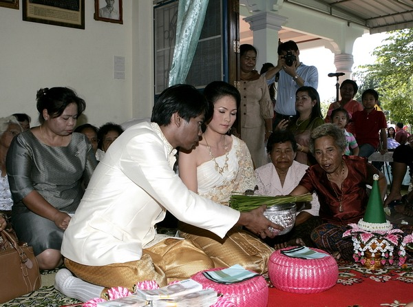 Thai engagement destination ceremony