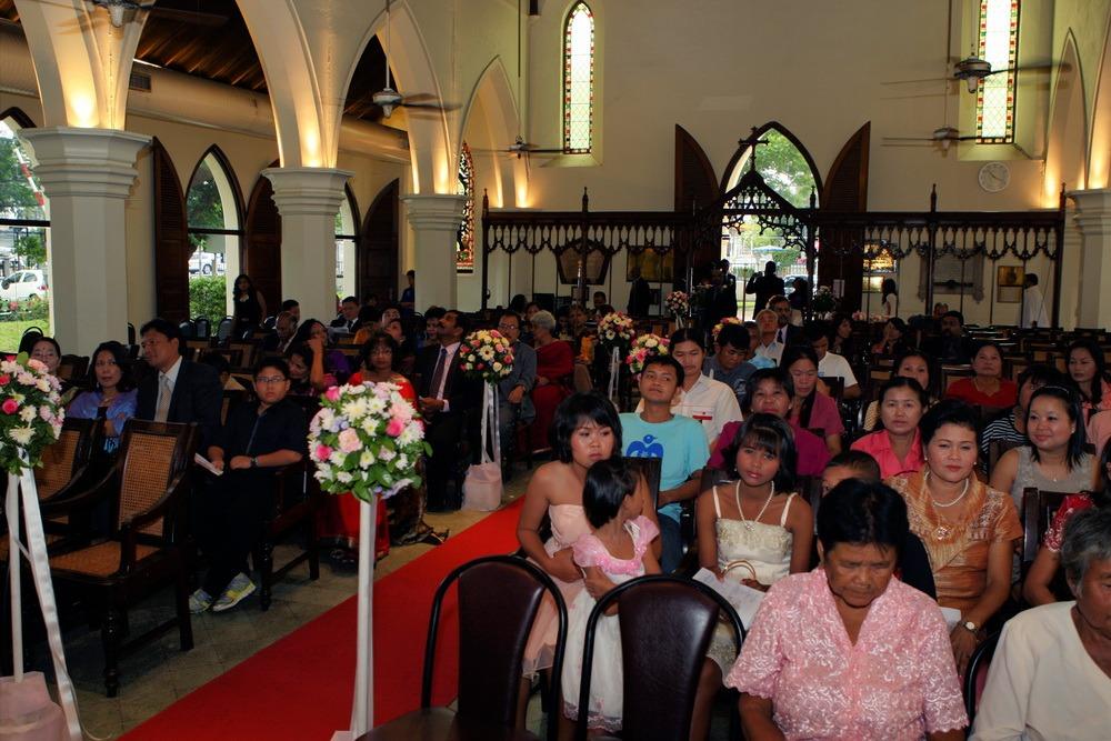 christ's church bangkok thailand wedding
