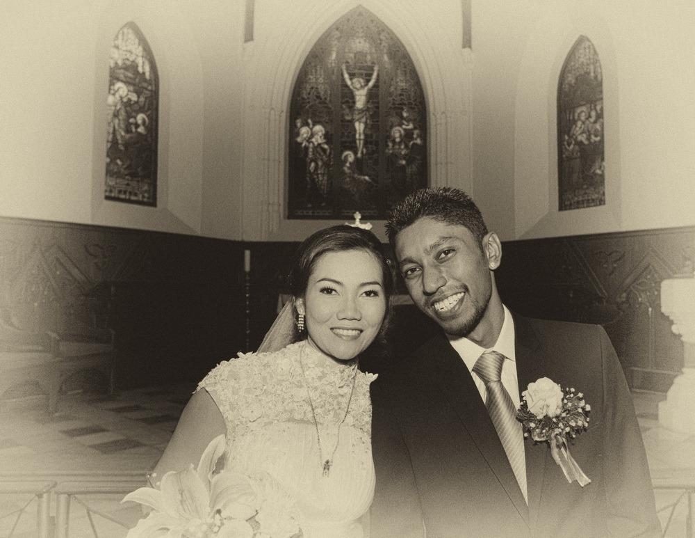 church ceremony christ's wedding ryan & som