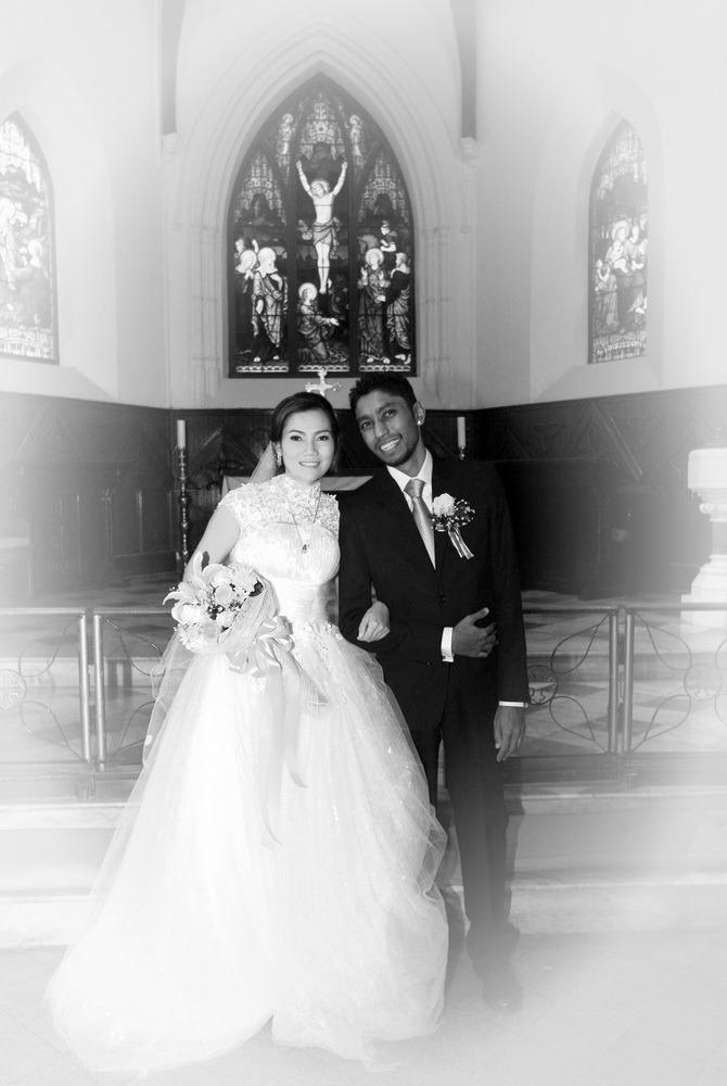 wedding christ's ryan & som church bangkok