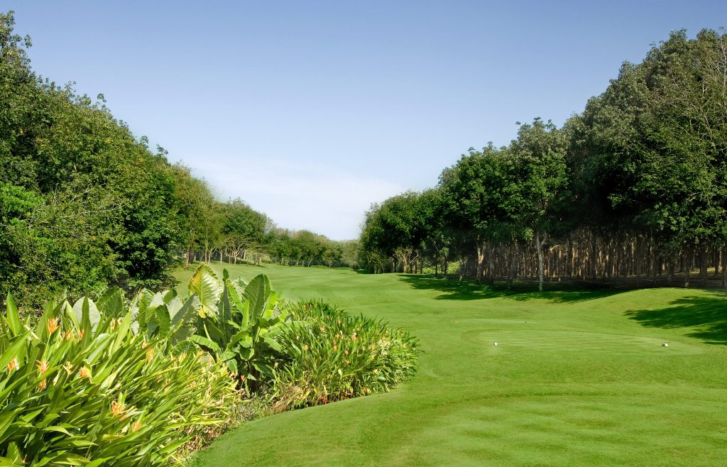 blue canyon country club phuket thailand 5th tee off