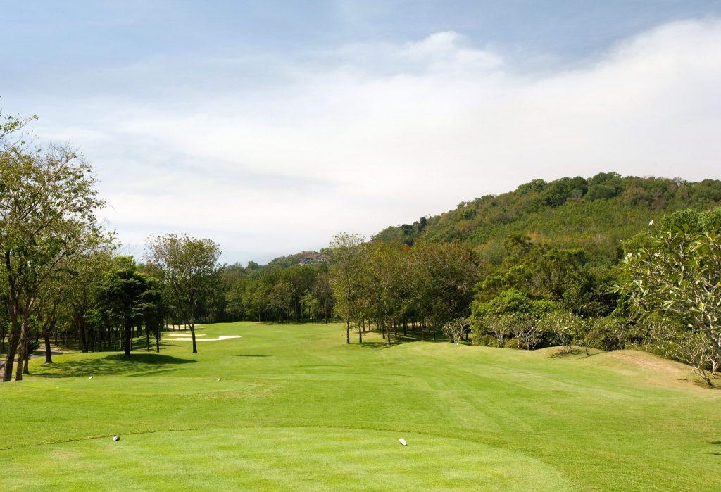 blue canyon country club phuket thailand hole 16 tee off