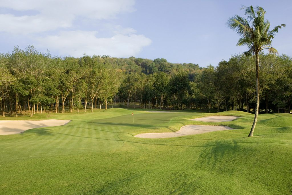 blue canyon country club phuket thailand hole 6 green complex