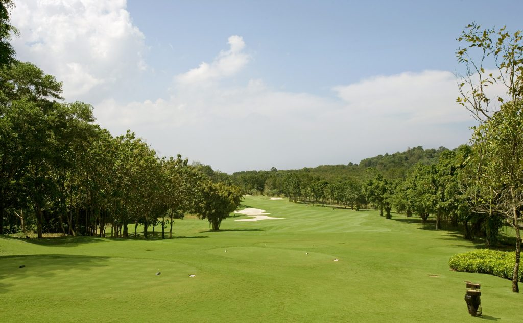blue canyon country club phuket thailand hole number 1 fairway