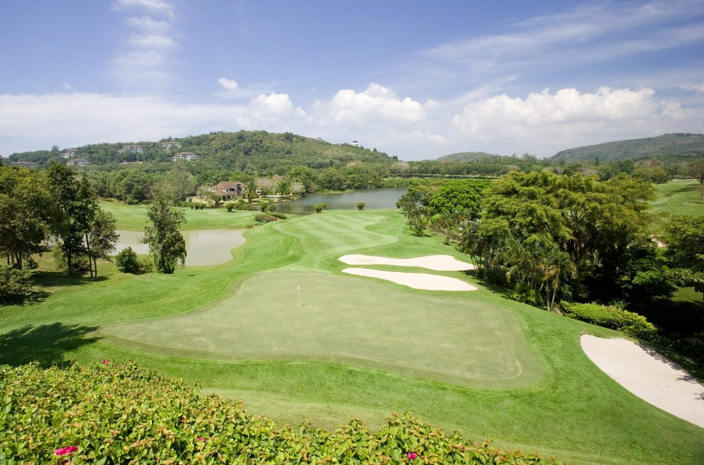 blue canyon country club phuket thailand hole number 9 green