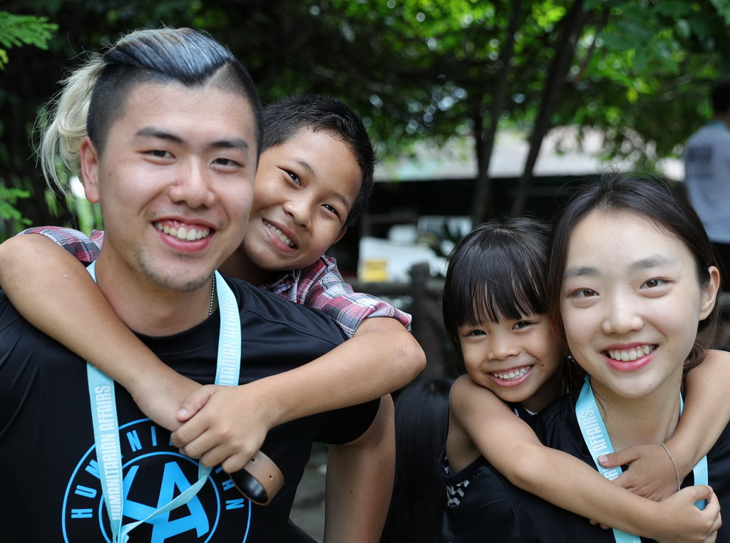 CSR with orphaned kids in Thailand symposiums conferences.